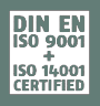 DIN ISO 9001 / ISO 14001 Certified